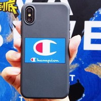 Champion phone case shell  for iphone 6/6s,iphone 6p/6splus,iphone 7/8,iphone 7p/8plus, iphonex