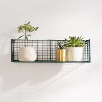 Caleb Wire Grid Wall Shelf   Urban Outfitters