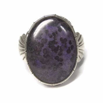 Vintage Traditional Navajo Sugilite Ring Size 9.5 Bonnie Sandoval