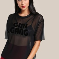 Girl gang sheer oversize top