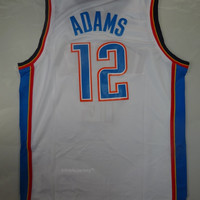 Rare Steven Adams 12 Oklahoma City Thunder New NBA Jersey Adams Oklahoma City Thunder Basketball Jersey All Stitched and Sewn Any Size S-XXL