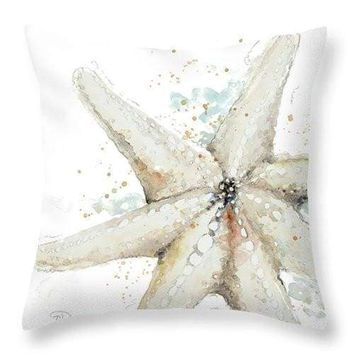 Water Starfish Throw Pillow By Annabelle' Design