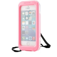 CellBee® Capture Armor Universal Waterproof Heavy Duty Crystal Case with Strap for Iphone 4/4s/5/5s (Pink)