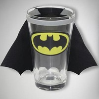 Batman Logo Caped Pint Glass
