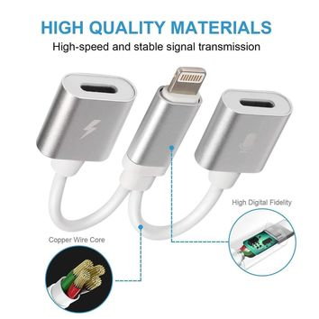 2in1 Dual Lightning Adapter Charging Splitter Audio Cable iPhone 5 6s 7 8 X Plus