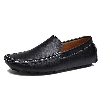 New Colors Cow Split Leather Men Flat Shoes Moccasins Men Loafers Driving Shoes Fashion Casual Shoes