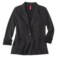 Pure Energy Juniors Plus-Size Long-Sleeve Blazer - Black/Gray