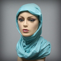 Leopard Jersey Turban Chemo Hat Head Wrap Alopecia Scarf or Hijab, One Piece Wrap