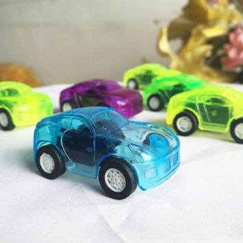 Cars For Child Hot Wheels Mini Car Model Kids Toys For Boys 1Pcs Candy Color Pull Back Car Plastic Cute Toys Diecasts Vehicles