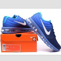 NIKE Trending Fashion Casual Sports Shoes AirMax section Blue white hook