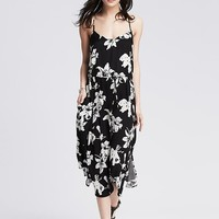 Banana Republic Womens Floral Midi Dress