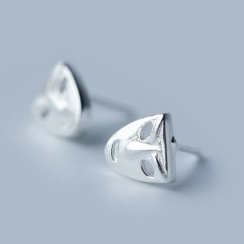 Personalized mask 925 sterling silver  earrings,a perfect gift