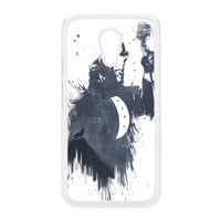 Wolf Song 3 White Hard Plastic Case for Moto G2 by Balazs Solti