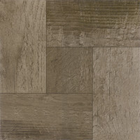 "Pack of 20 Elegant Home 12"" x 12"" Self Adhesive High Gloss (No Wax) Finish 1.2mm Thick Vinyl Tiles - Rustic Barn Wood"