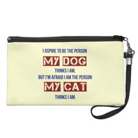 Who My Dog Thinks I Am Wristlet Purse