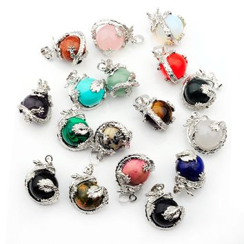 2018  The Most Fashionable Dragon Necklace Pendant Opal Tiger Eyes Match Both Men And Women