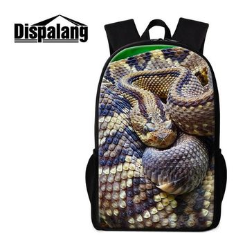 Boys bookbag trendy Dispalang Snake School Backpack Cool Rucksack for Boys Personalized  Pattern Lightweight Bagpack Day Pack for Girl Travel AT_51_3