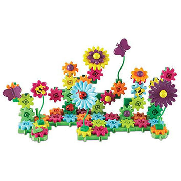 Learning Resources Gears! Gears! Gears! Build and Bloom Flower Garden Building Kit