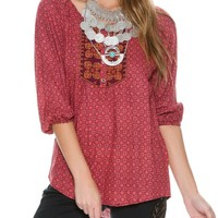 ANGIE RUSTIC TUNIC TOP