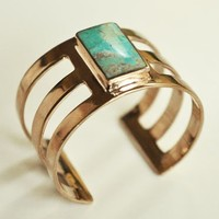 Pamela Love Bronze Turquoise Inlay Cuff