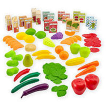 Just Like Home Fruit and Veggie Play Food Bucket