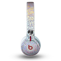The Colorful Confetti Glitter Sparkle Skin for the Beats by Dre Mixr Headphones