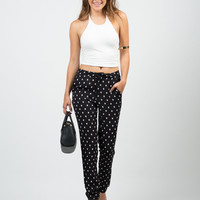 Mini Squares Printed Pants