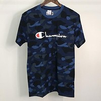 Boys & Men  Bape x champion  Fashion Casual Shirt Top Tee