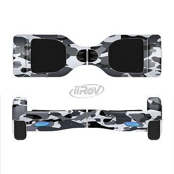 The Traditional Black & White Camo Full-Body Skin Set for the Smart Drifting SuperCharged iiRov HoverBoard