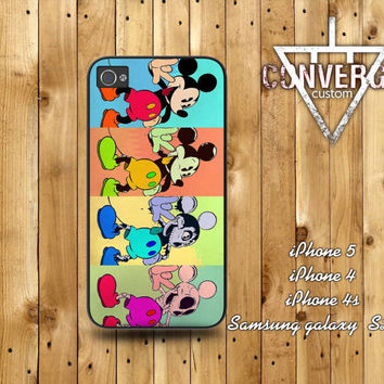 Disney Melting Mickey mouse Case for Iphone 4/4s,Iphone5 Case,Samsung Galaxy s2,s3