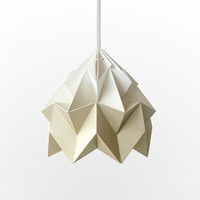 NEW: Moth origami lampshade gradient gold