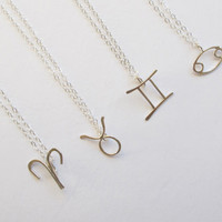 Aries, Taurus, Gemini, Cancer--Zodiac Sign Necklace