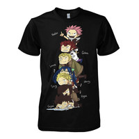 Fairy Tail - Fairy Tail Gang -Men Short Sleeve T Shirt - SSID2016