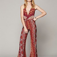 Novella Royale Womens Lady Tangier Jumpsuit - Sandstone Tangier,