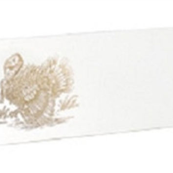 Dempsey & Carroll Gold Turkey Place Cards