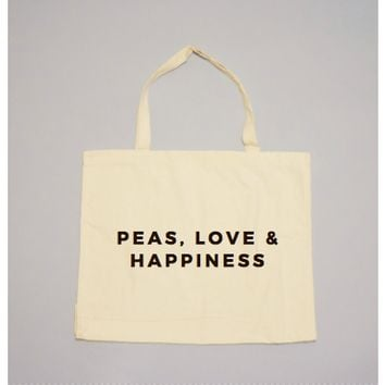 Peas, Love & Happiness Tote by 24 Carrot Co.