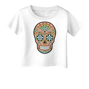 Version 6 Copper Patina Day of the Dead Calavera Infant T-Shirt