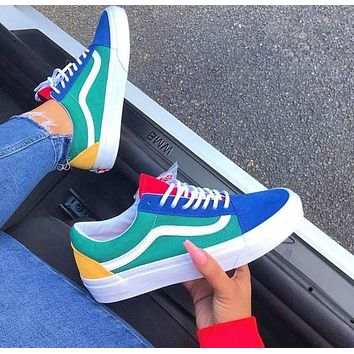 yellow green blue and red vans