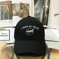 I NEED MY SPACE Nasa Meatball  Baseball Cap, Nasa Hat , nasa Cap, Insignia, Girlfriend gift, Low-Profile Baseball Cap Baseball Hat