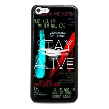 twenty one pilots stay alive iphone 5c case cover  number 1
