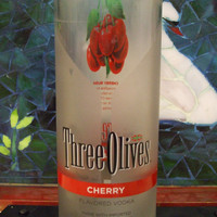 20 Ounce Pure Soy Candle in Reclaimed Three Olives Cherry Vodka Bottle - Your Choice of Scent