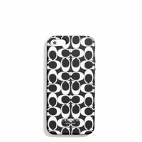 IPHONE 5 CASE IN POPPY SIGNATURE METALLIC OUTLINE