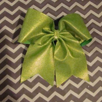 Lime Green Mystic Cheer Bow