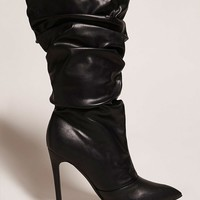 Pointed Faux Leather Boots