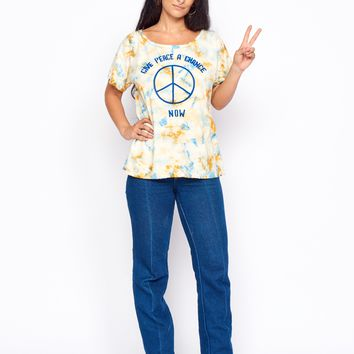 Give Peace a Chance Boyfriend Tee