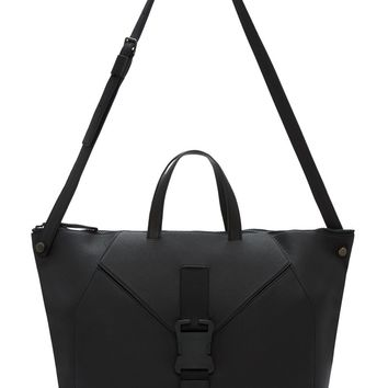 Christopher Kane Black Grained Leather Safety Buckle Tote Bag