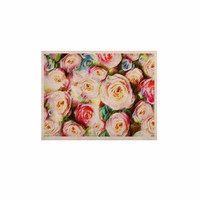 """Dawid Roc """"Pastel Rose Romantic Gifts"""" Green Photography KESS Naturals Canvas (Frame not Included)"""