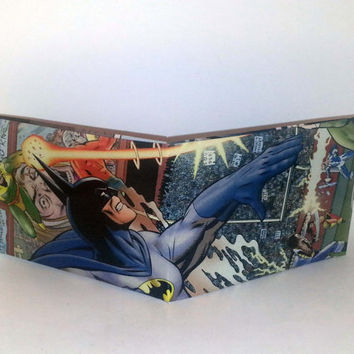 Comic Book Wallet// Batman, Geo-Force, Black Lightning, and Katana