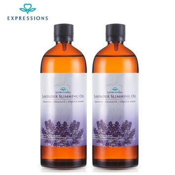 2 Bottle 400ml Australia Potent Effect Lose Weight Essential Oils - Thin Leg Waist Fat Burning Natural Safety Slimming Massage Oil