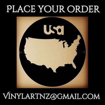 United States of America - USA Map – Vinyl Art - Retro, Cool and Funky - Perfect Birthday, Souvenier or Christmas Gift :)